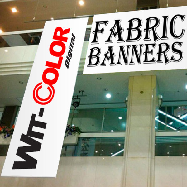 Witcolor - Fabric Banners with eyelets. Frames available