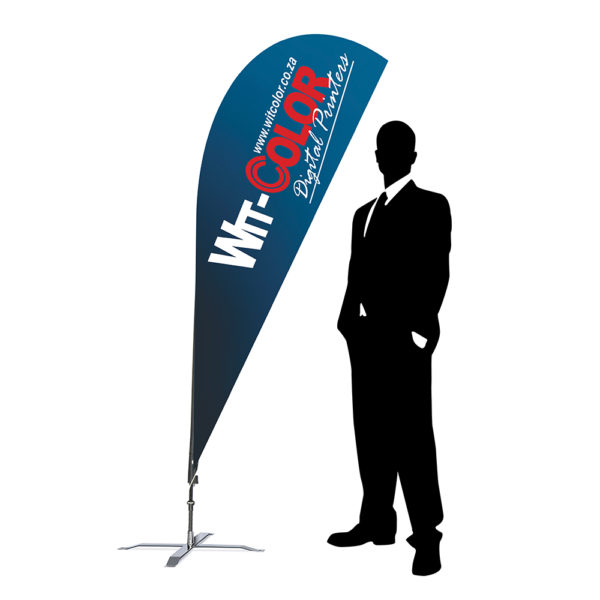 Witcolor Digital - The Sharkfin or Teardrop Flag - 2m size