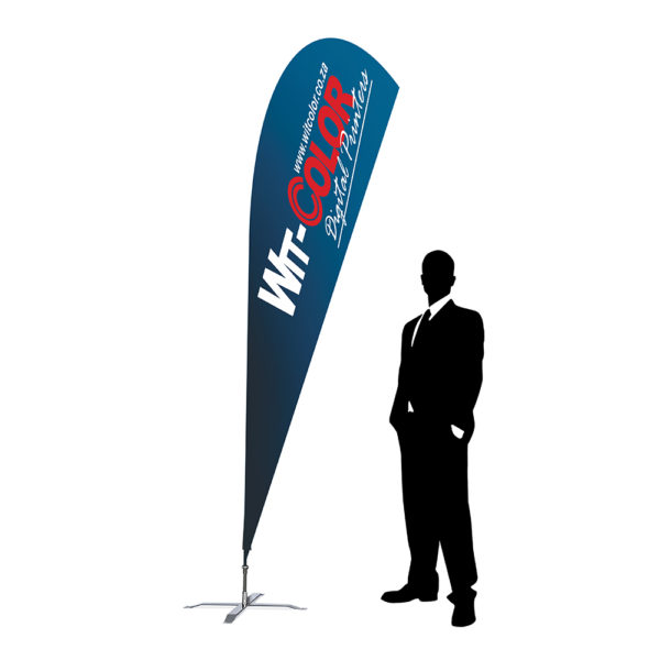 Witcolor Digital - The Sharkfin or Teardrop Flag - 3m size