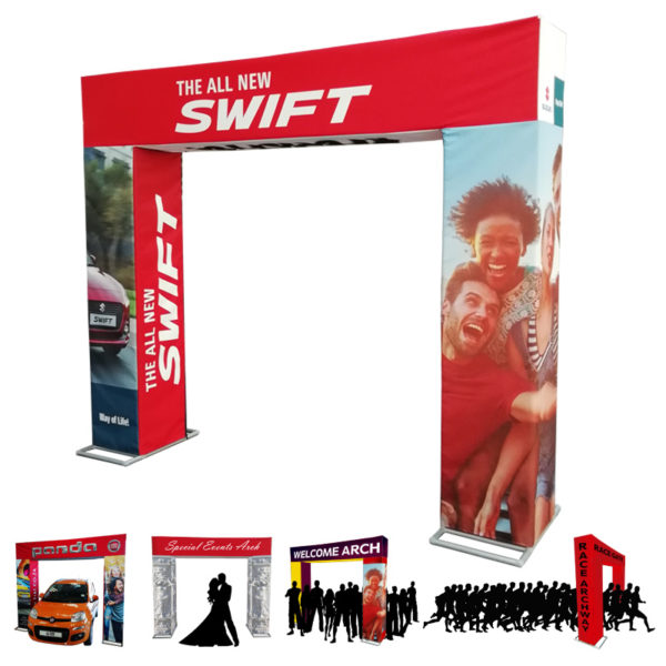 Print Impact introduces the Tower Stand - A new way of Gate Arch Advertising.