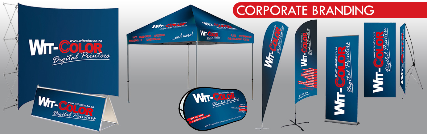 WitColor Digital Printers - Corporate Branding - Banners, Flags, Gazebos, Banner Walls - Cape Town