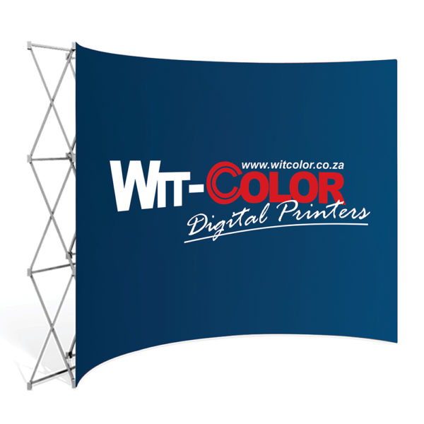 Witcolor Digital - Curved Banner Walls are elegant and available in 4 sizes